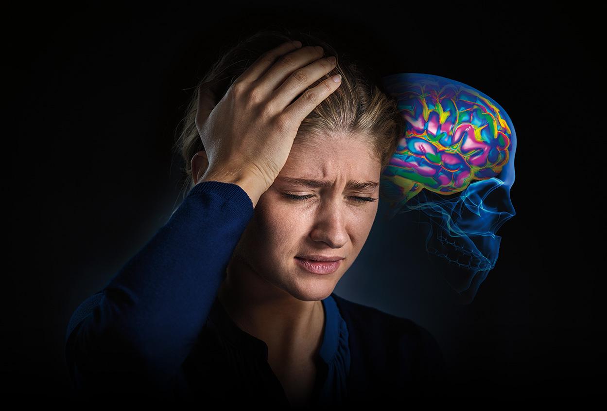 migraine-woman-art