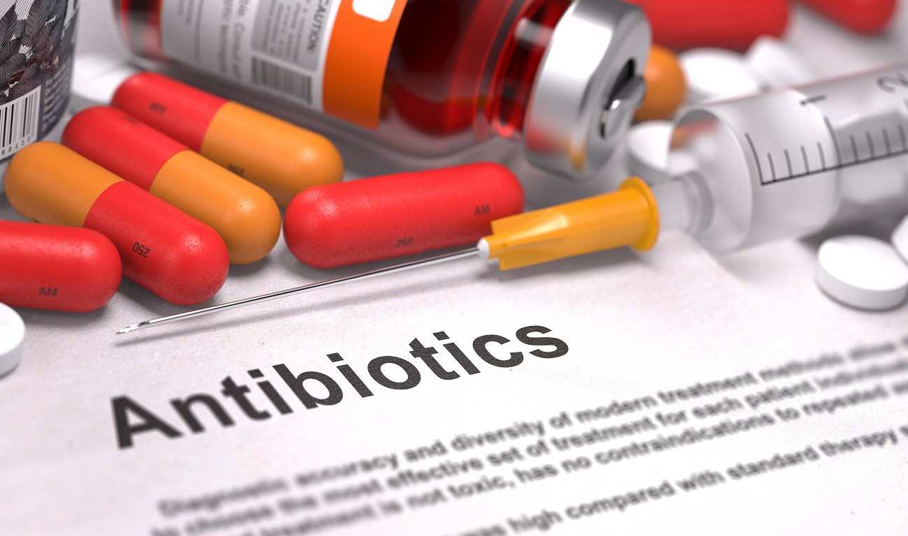 Antibiotics - Medical Concept. Composition of Medicamen.
